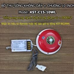 Bộ thu sóng không dây + chuông điện 10 inch KST-C15-10WL
