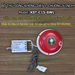 Bộ thu sóng không dây + chuông điện 6 inch KST-C15-6WL